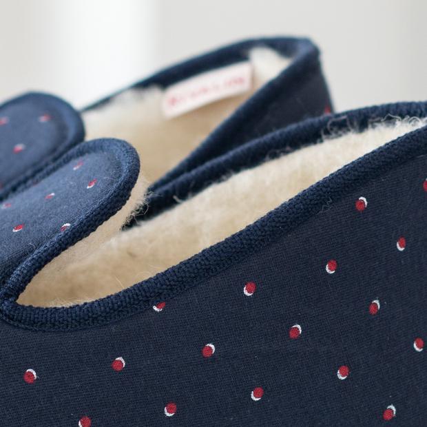 Chaussons d'intérieur en laine