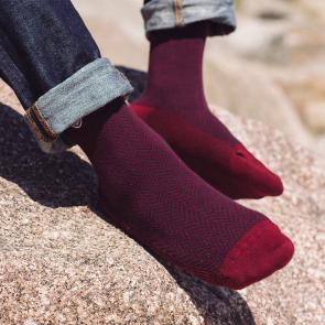 Socken halbhoch