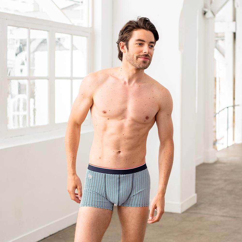 Le Marius - Boxer Chevron bleu jean