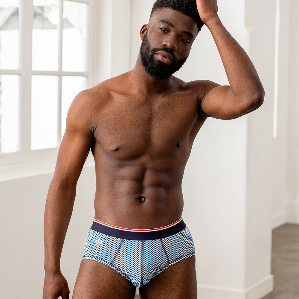 Le terrible - Slip chevron bleu jean