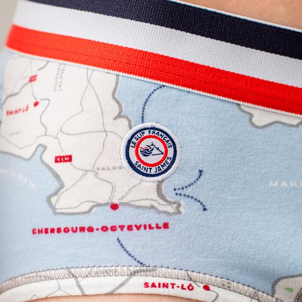 Slip mit Kartenprint Normandie