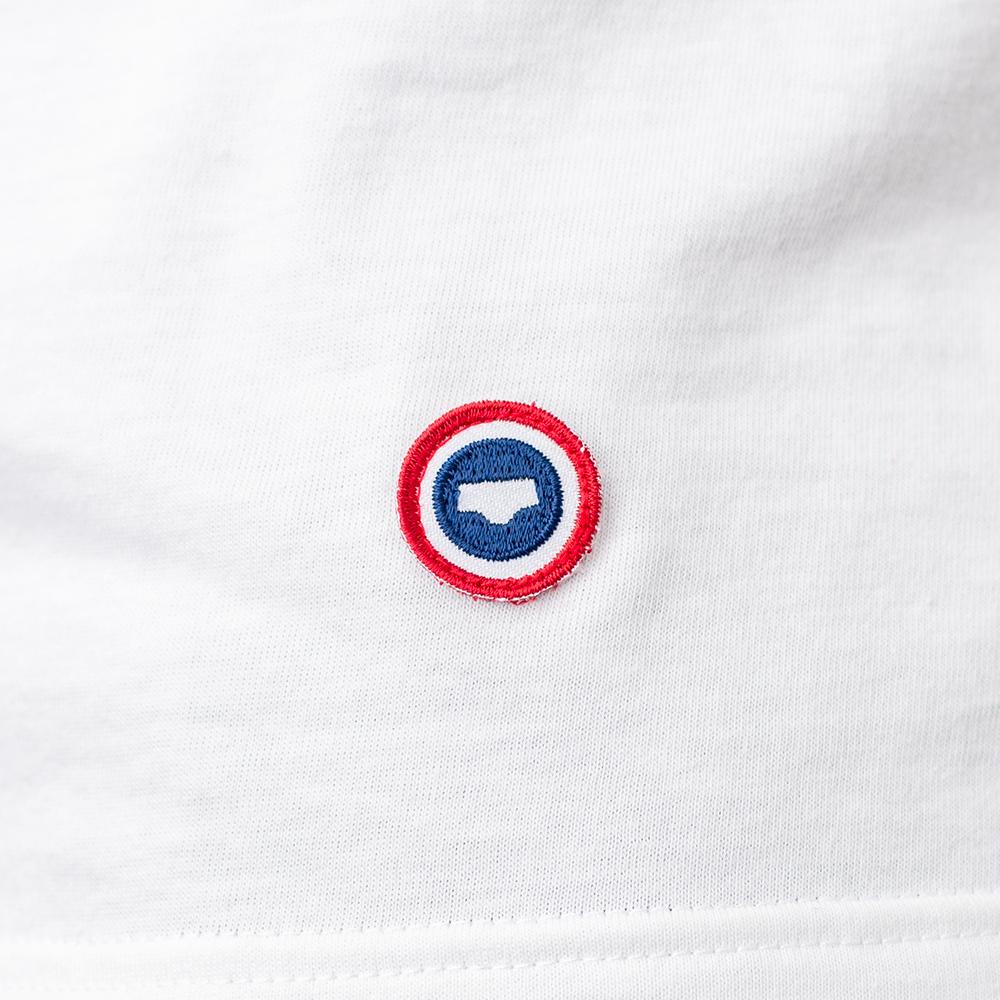 Le Jean F - T-shirt blanc/mousse