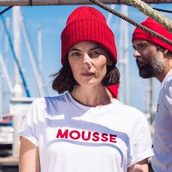 Le jean f BLANC / MOUSSE - Tshirt BLANC / MOUSSE