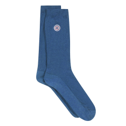 Les Lucas Bleu jean - chaussette mi-hautes maille piquée