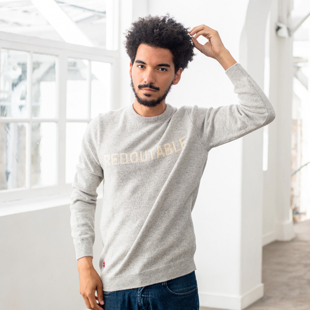Pullover from recycled wool