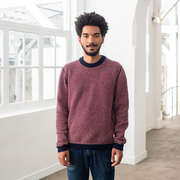 Reversible Pullover from recycled wool