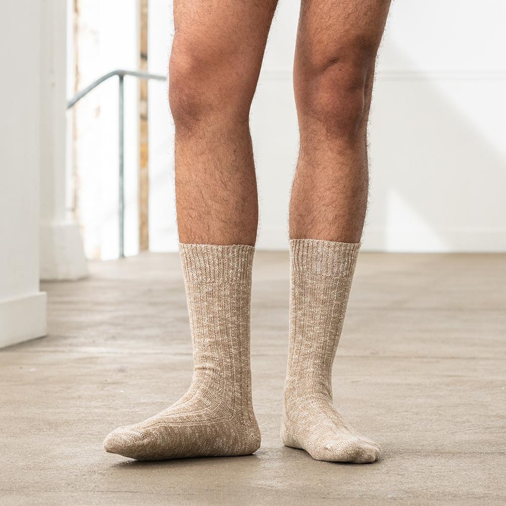 Les Martin - chaussettes camel