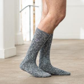 Chaussettes mi-hautes à côtes