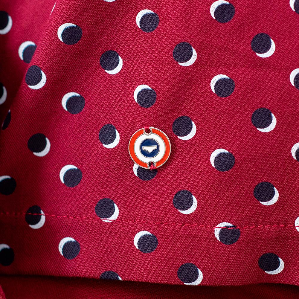 La Clémentine - Haut de pyjama petits pois bordeaux