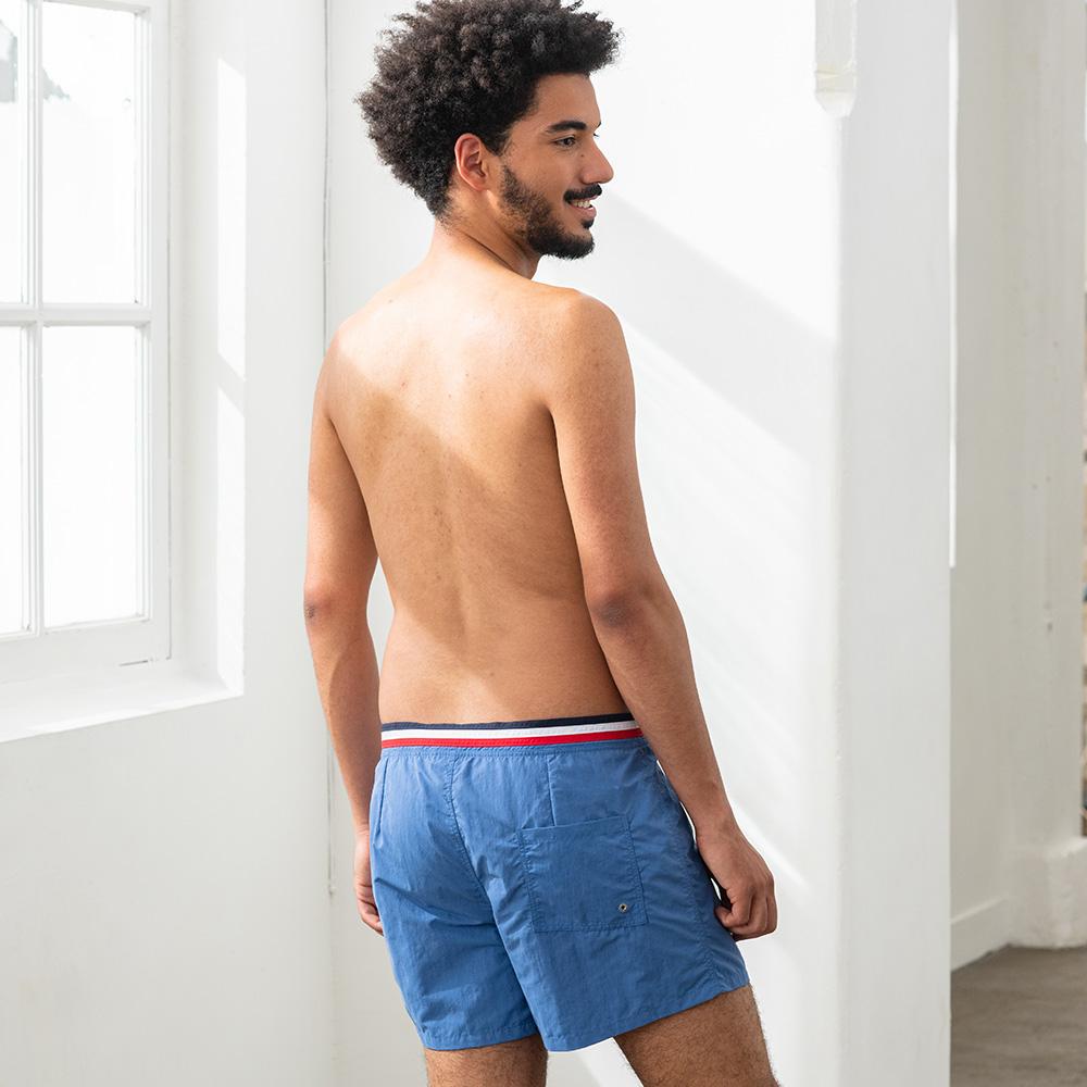 Short De Bain Homme Bleu Jean Le Slip Français