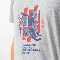 Le jean f - T-shirt ESF gris chiné
