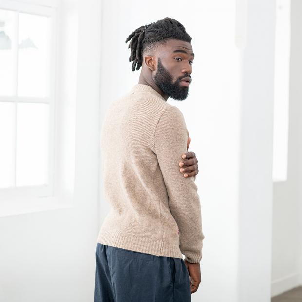 Pull mixte en laine française