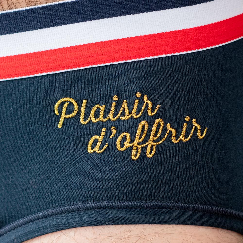 Slip Homme Marine Plaisir Le Slip Français