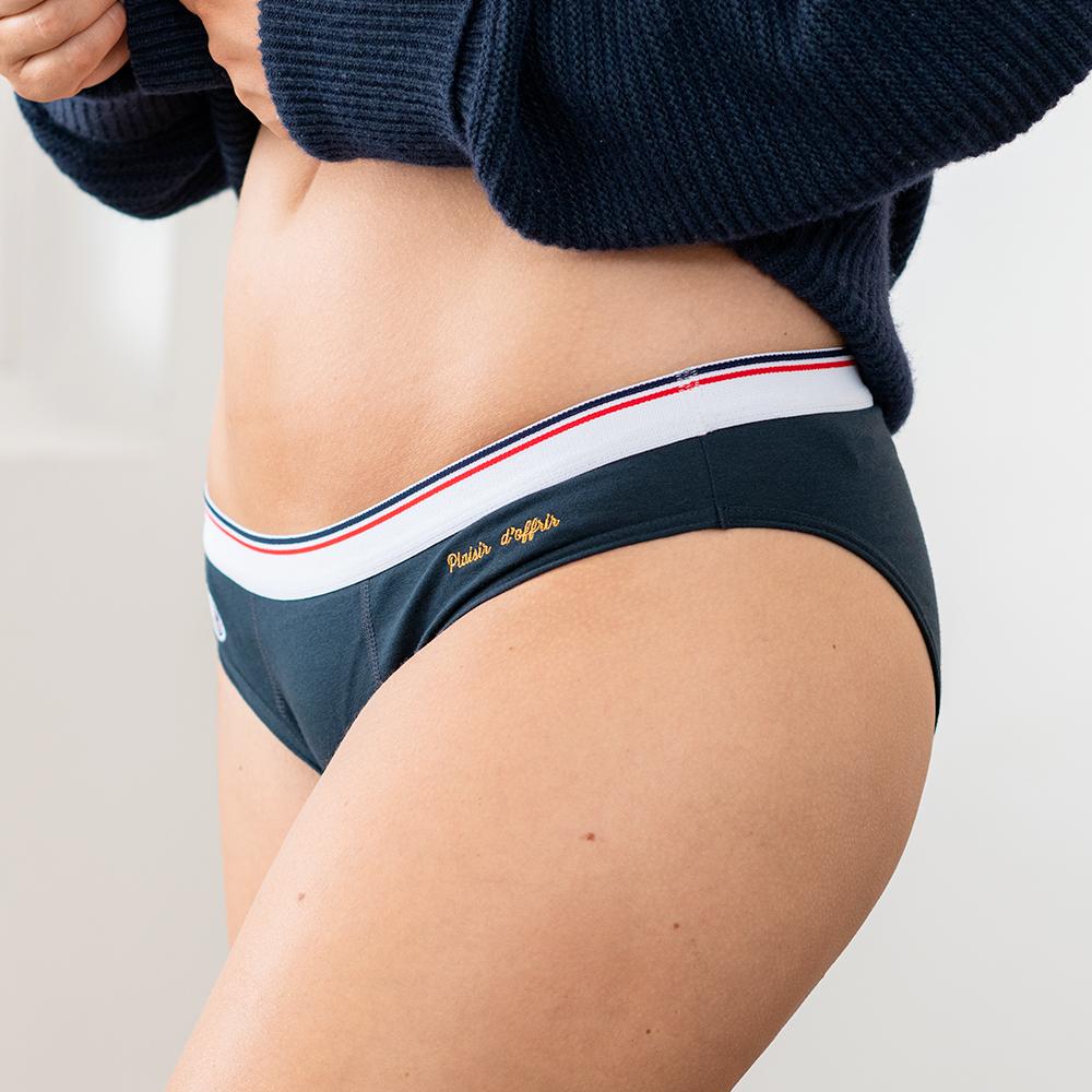 Culotte Et Bas Femme Marine Plaisir Le Slip Français