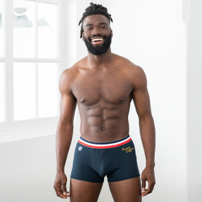 "Embroidered boxer brief ""Plaisir d'offrir"""