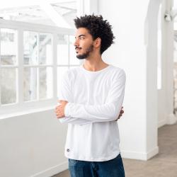 Le bobby Weiß - Weißes Shirt mit Raglanärmeln