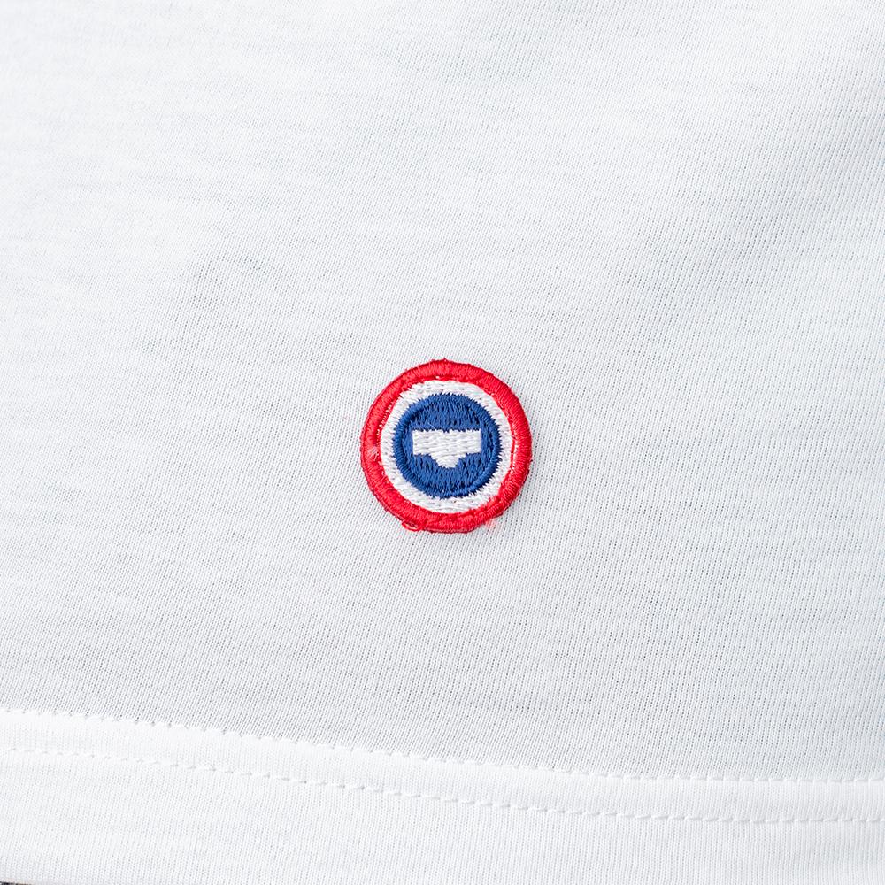 Le Julien blanc - T-shirt blanc Col V