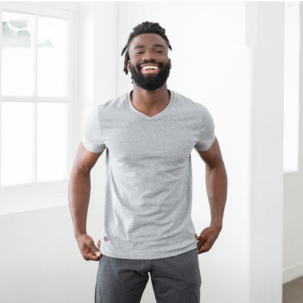 Cotton V-neck unisex T-shirt