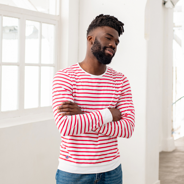 Red-white striped shirt