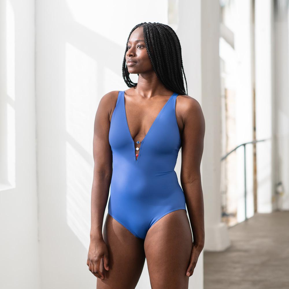 Une Piece Femme Bleu Jean Le Slip Français