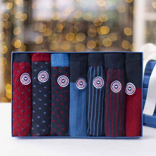 Les lucas semainier POIS RAYURES BICO - Chaussettes POIS RAYURES BICO