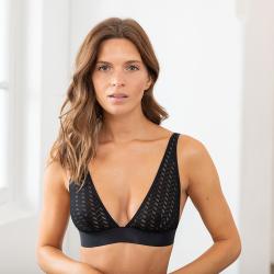 La Agathe Black - Black bra