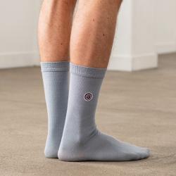 Les Lucas - Chaussettes unies gris clair