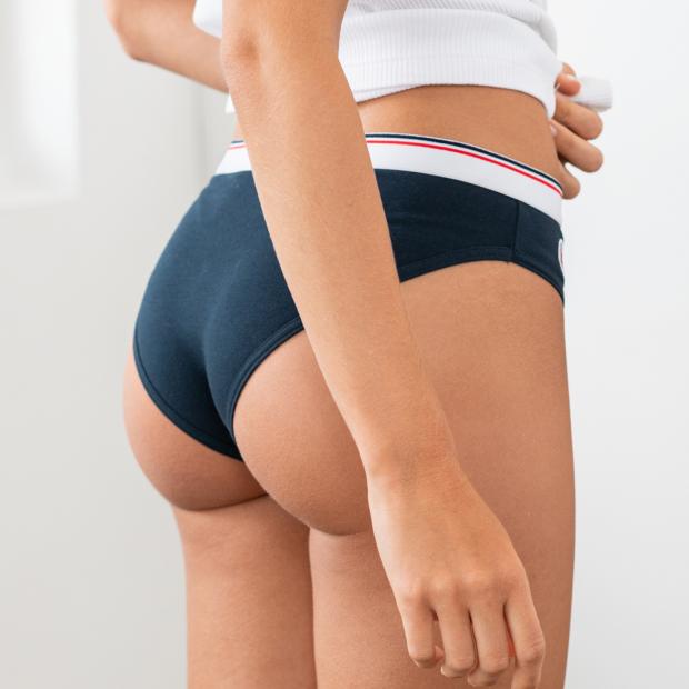 Dunkelblaue Panty