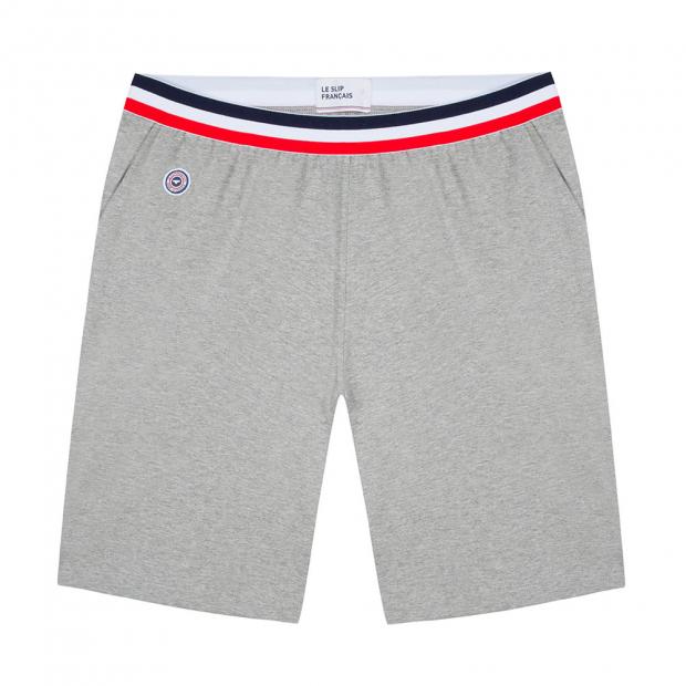 Graumelierte Shorts