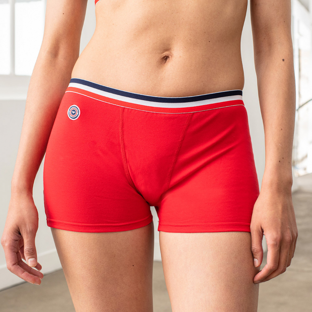 Red boxer brief for her