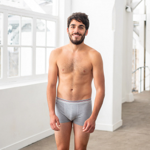 Grey modal boxer brief