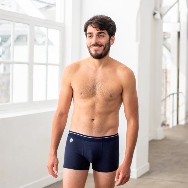 Pack of 2 modal boxer briefs, black & blue