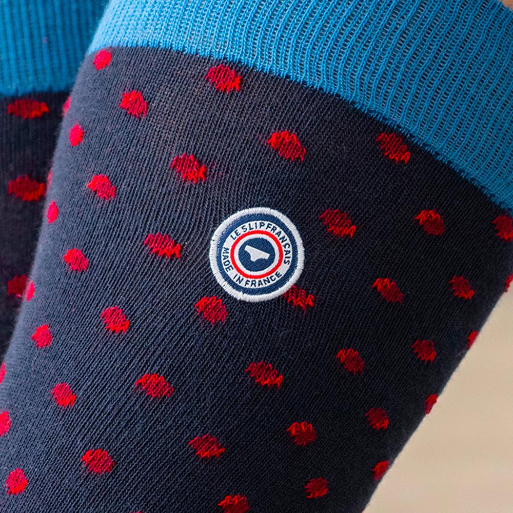 Les lucas POIS BORDEAUX - Chaussettes POIS BORDEAUX