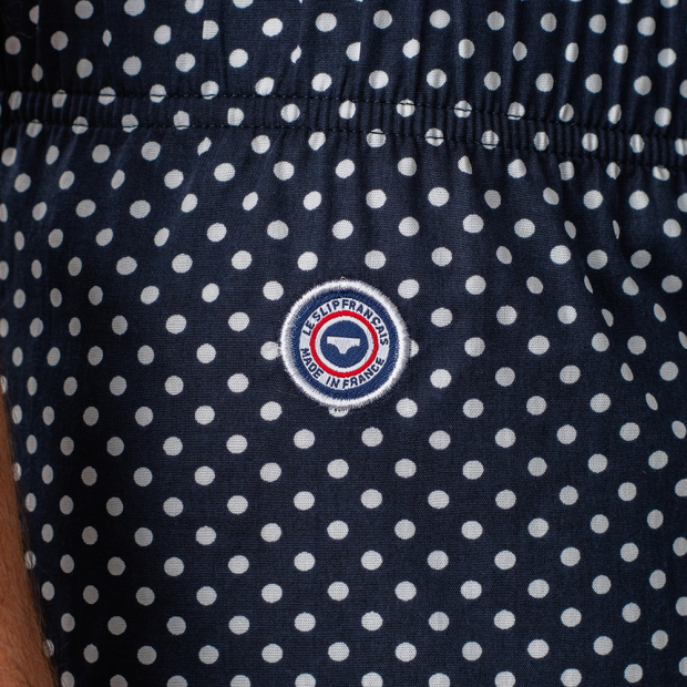 Navyblue boxershort with dots