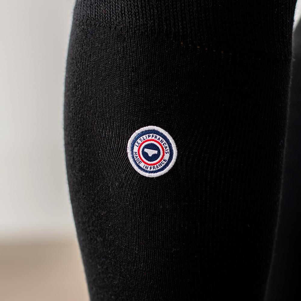 Les Daniel - Chaussettes hautes noires drapeau