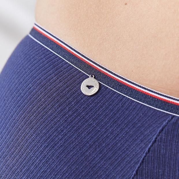 Culotte haute en coton côtelé