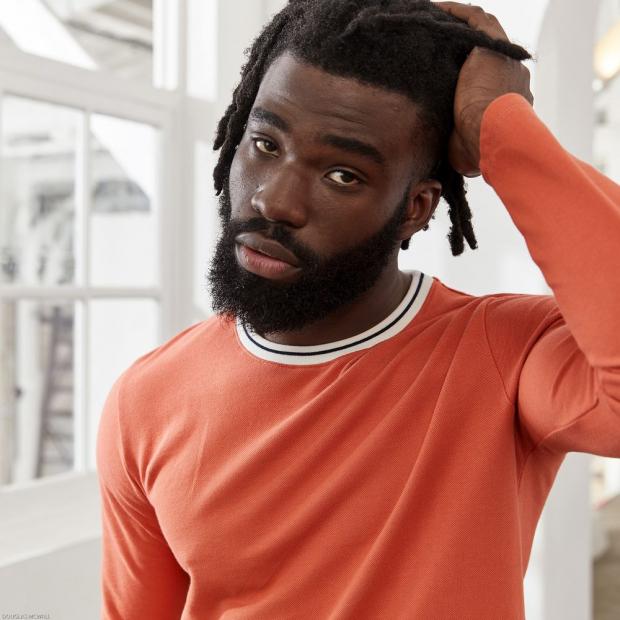 T-shirt manches longues en piqué de coton