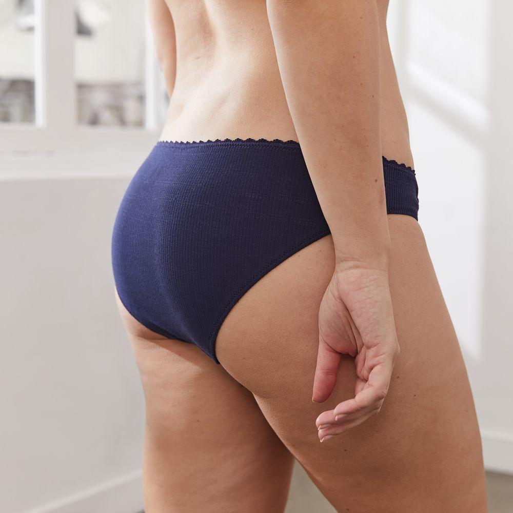 Culotte Et Bas Femme Bleu Marine Le Slip Français