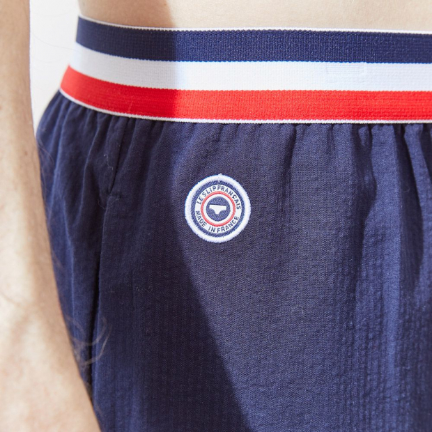 Short long élastiqué en coton