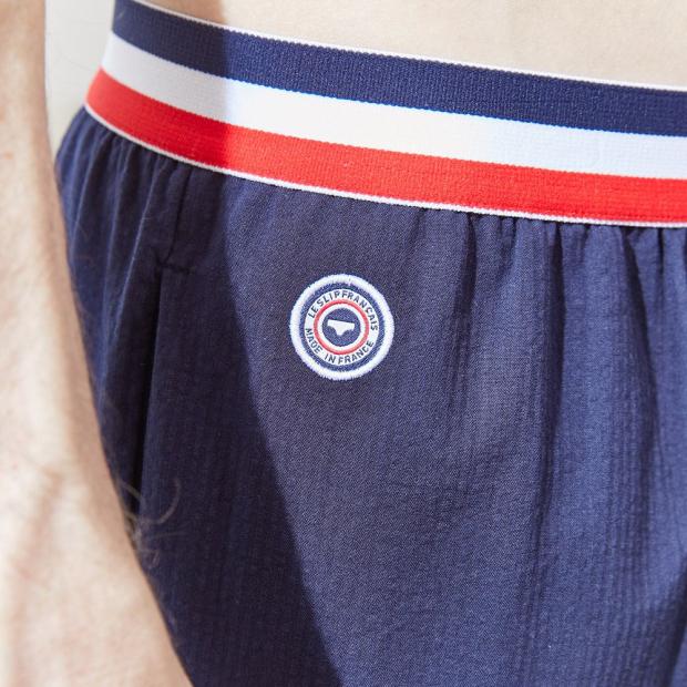 Pantalon élastiqué en coton