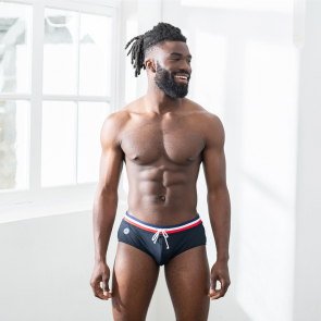 Black swim brief