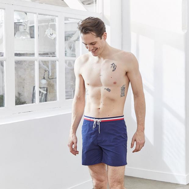 Long swim shorts in polyamide
