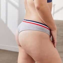 La Suzon Gris - Culotte tanga gris