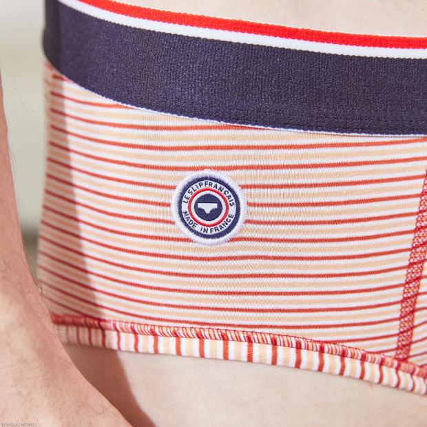 Slip rayé en coton