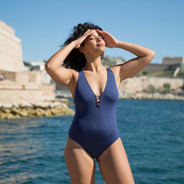 Einteiliger Badeanzug aus Polyamid