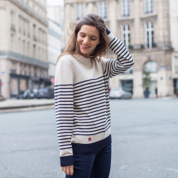 Le Marinière White - Striped Pullover