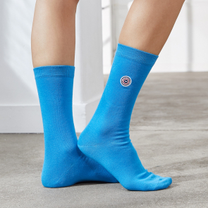 Electric blue socks