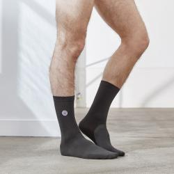 Les Lucas - Chaussettes unies gris foncé