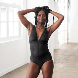 La Elodie Black - Black lace bodysuit