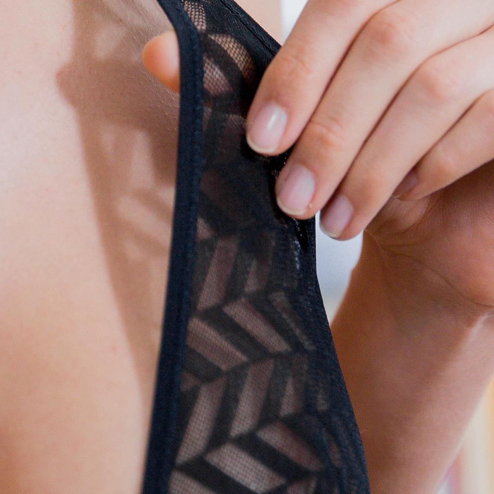 La Elodie - Body résille noir